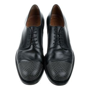 Gucci Leather Studded Derby Shoes